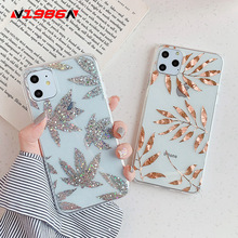 Rose Gold Plating Art Leaf Tree Phone Case For iPhone SF