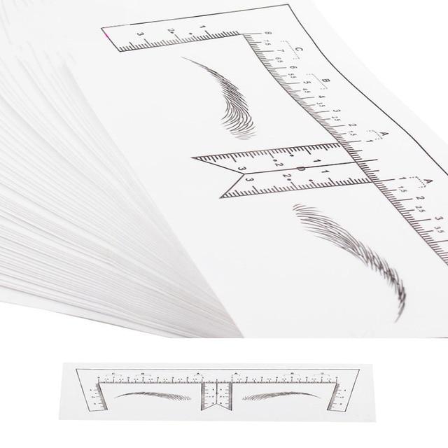 Microblading Stencils Eyebrow Ruler Sticker Eyebrow Shaping Stencils Microblading Supplies Disposable Adhesive Eyebrow Template 2