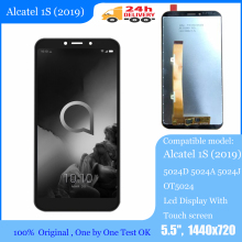 "New 5.5"" Alcatel 1S (2019) 5024D 5024A 5024J OT5024 LCD Display Touch screen Digitizer Panel sensor lens glass Assembly"