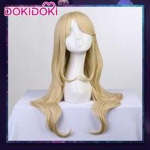 DokiDoki Game Cosplay Wig LOL League of Legends K/DA Ahri Women Long Blonde Hair Heat Resistant