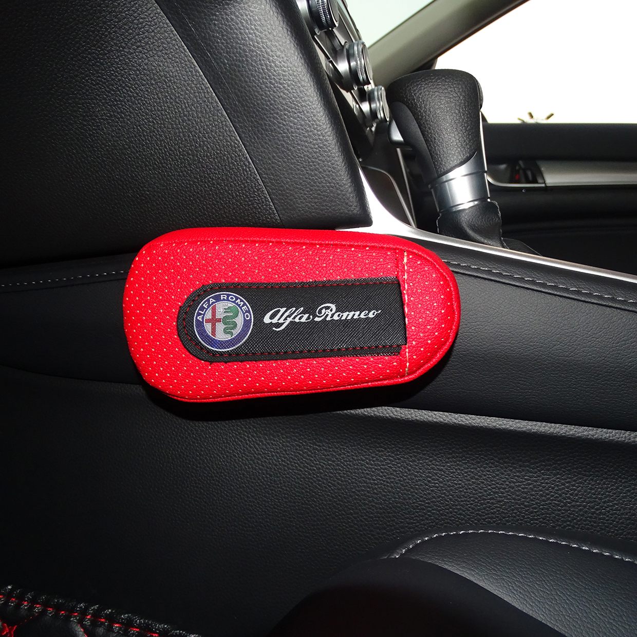Soft Leather Leg Cushion Knee Pad Armrest pad Interior For ALFA ROMEO Mito 147 156 159 166 Giulietta Giulia Mito Spider GT