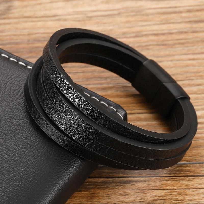 Bracelets personnalisés multicolores pour hommes, disponibles en acier inoxydable, 6 choix pour cadeau, Style classique Bracelet à breloques