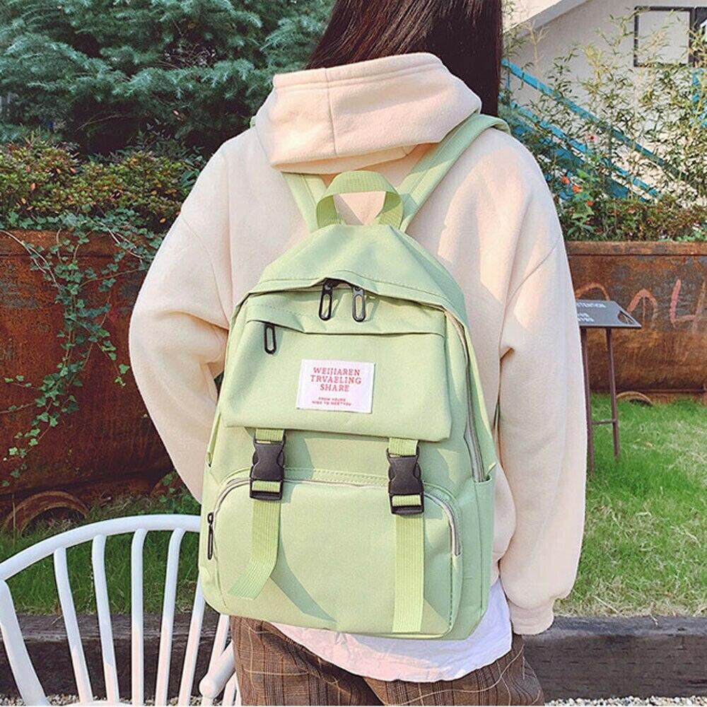 2020 Brand New Women Dual-purpose Purse Anti-Theft Rucksack Waterproof Oxfod Casual Backpack Schoolbag