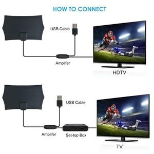 Image 4 - 980 миль 4K цифровая HD ТВ комнатная ТВ антенна с усилителем сигнала Усилитель ТВ радиус серфинг лиса антенна HD ТВ антенны антенна