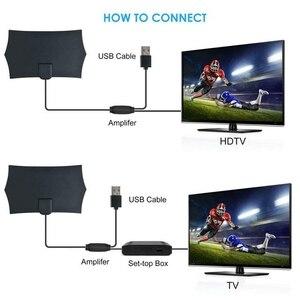 Image 4 - 980 Miles 4K Digital HDTV Indoor TV Antenna with Amplifier Signal Booster TV Radius Surf Fox Antena HD TV Antennas Aerial