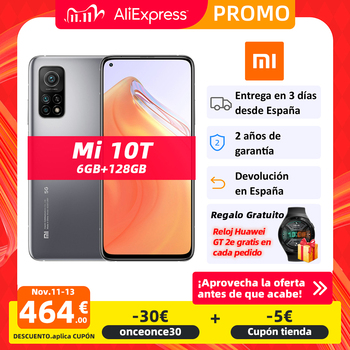 "Global Version Xiaomi Mi 10T 6GB 128GB 5G Smartphone Snapdragon 865 Octa Core 64MP Triple Camera 144Hz 6.67"" DotDisplay 5000mAh"