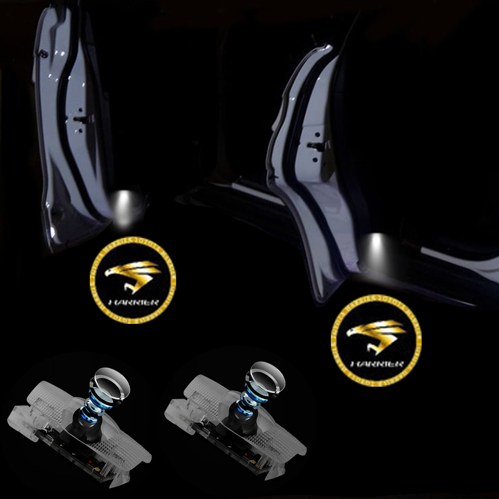 1 10 Pair Car Interior Light For HARRIER Logo Projector Door Light Welcome Light For Prado Highlander Corolla Camry Reize Crown in Signal Lamp from Automobiles Motorcycles