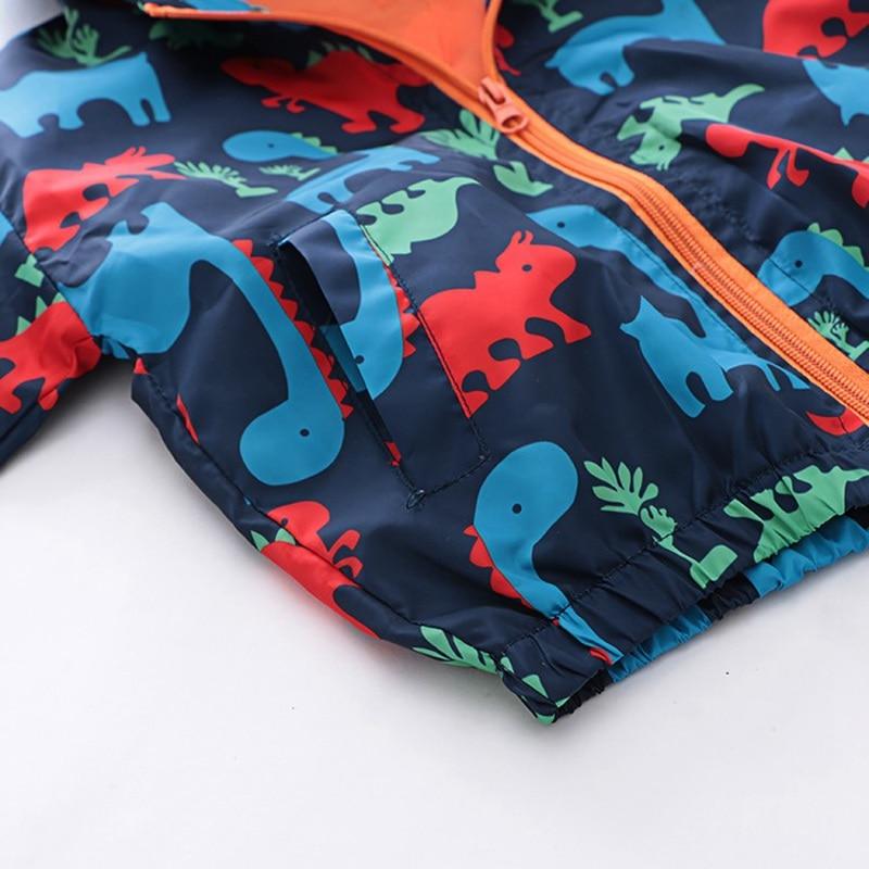 CROAL CHERIE  Fall Outerwear Coats Boys Kids Girls Jacket Cute Dinosaur Children Clothing Casual Baby Spring Jacket 80-130cm (2)