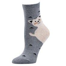 Женские носки Unisae, мужские носки, осенние женские носки с персонажами из мультфильмов, осенние носки с котами, повседневные хлопковые носки,# BL2