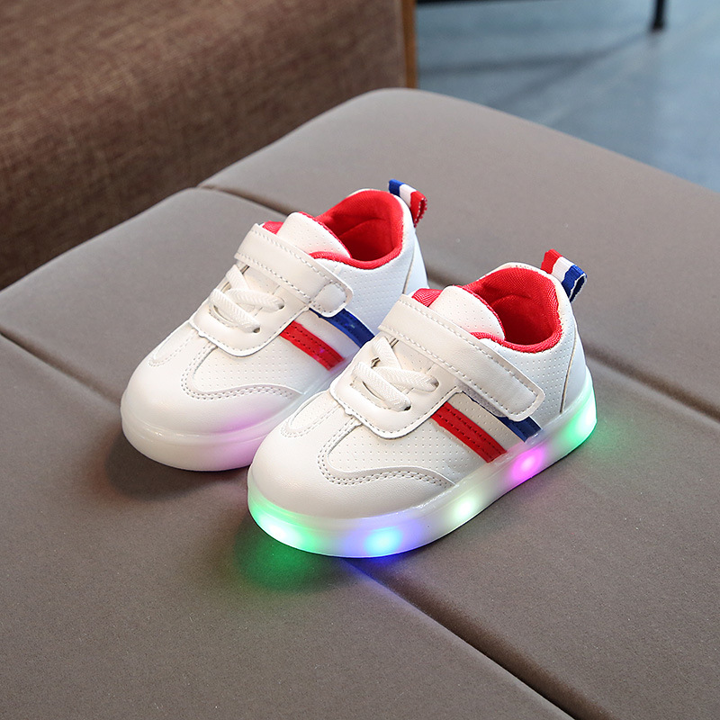 New High Quality Soft Breathable Shoes Kids Casual Hot Sales LED Lighted Baby Girls Boys Shoes Cute Sneakers Children Footwear