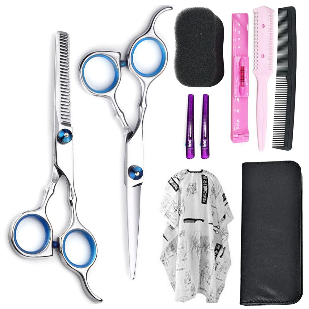 1/5/10PCS/Set Professional Salon Barber Hairdressing Scissors Kit With Comb Hair Clipper Thinning Cutting Hair Styling Tool