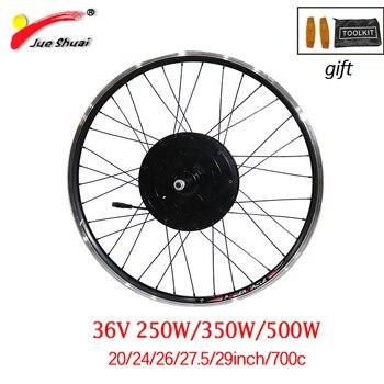 """36v 250w-500w silnik do roweru elektrycznego do 20 """"24"""" 26 """"27.5"""" 700C 29 """"obręcz rowerowa e-bike bezszczotkowy piasta elektryczne koło silnikowe"""