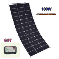 100 W Flexible Solar Panel 10A 12 V 24 V Controller Battery Charger For RV Car Boat Controller Charge