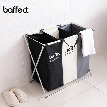 X-shape Foldable Dirty Laundry Basket Organizer Collapsible 2/3 Grids Clothes Storage Waterproof Large Hamper - discount item  45% OFF Home Storage & Organization