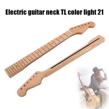 Electric Guitar Neck 21 Fret Wooden Retro Musical Instrument Replacement Accessories FK88 new electric guitar neck maple wood left hand 22 fret 25 5 inch big head stock