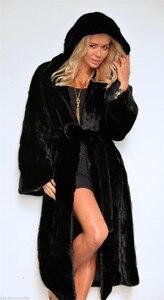 Image 3 - สีดำเสื้อคลุมขนสัตว์Fauxผู้หญิงฤดูหนาวยาวFaux Foxขนสัตว์เสื้อ2020แฟชั่นPlusขนาดเสื้อElegant Lady Warmแจ็คเก็ตY27