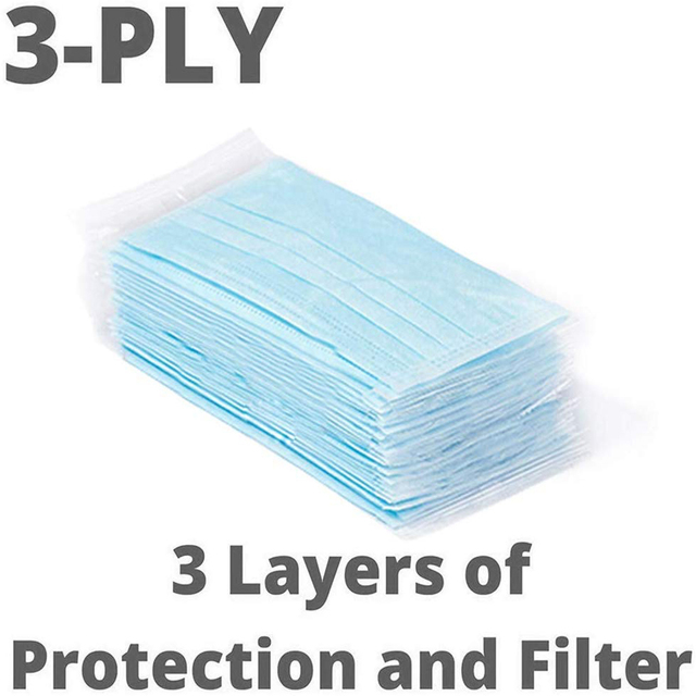 10-200PCS Disposable Mask Face 3 Laye Anti-Pollution Dust protection Mask Flu Facial Masks Disposable Dust Filter Safety Masks 3