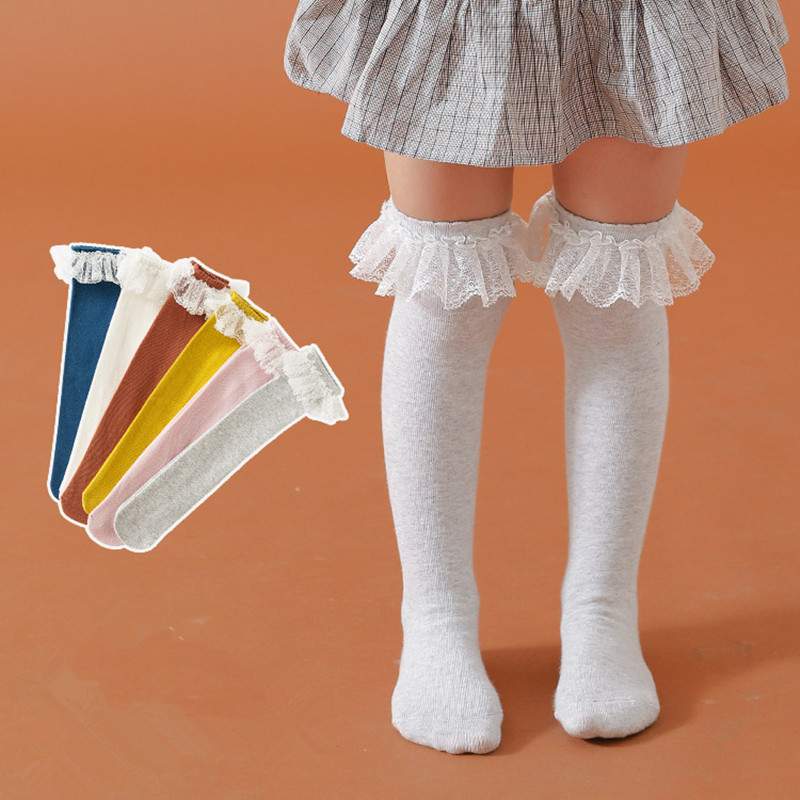 Catnew Child Toddle Girl Baby Ruffle Solid Color Striped Cute Leg Warmer