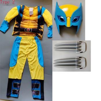 Movie  Iron Wolf  Costume Kids Boys  Superhero Cosplay Party Fancy Dress Children Birthday Super hero Dress