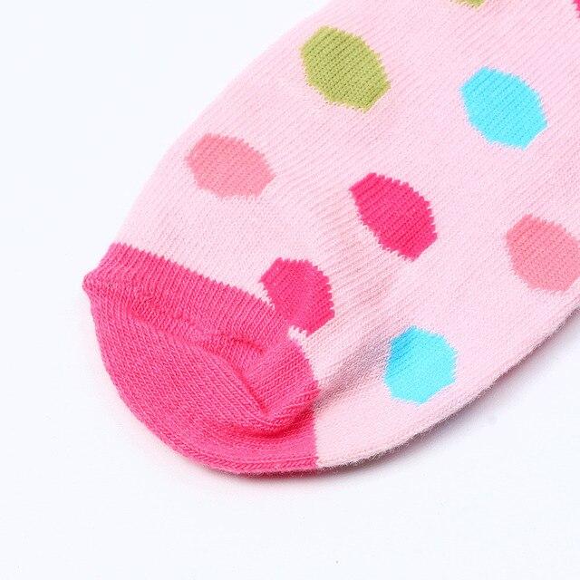 MAYA STEPAN 1 Pair Cotton Spring Autumn Baby Girls Kids Socks Children Warm Boys Dot Candy Colorl Kids Christmas Cheap Stuff 4