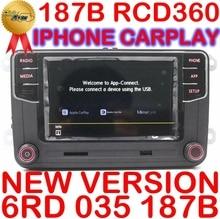 RCD360 플러스 RCD360G Carplay 자동차 MIB 라디오 6RD 035 187B VW 골프 5 6 제타 CC MK6 MK5 Tiguan Passat B6 B7 187B