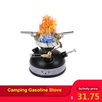 Camping Gasoline Stove Portable Outdoor Stove Mini Liquid Fuel Alcohol Diesel Camping Picnic Burner Petrol Oil Stove Cookware