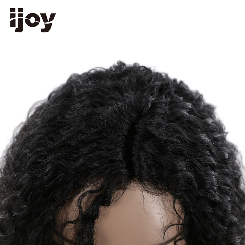Afro Human Hair Wig 18 inches 110g Natural Color 100% Human Hair Lace Frontal Wig Remy Hair Free Shipping IJOY - 6
