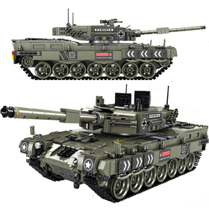 City 1747Pcs Leopard 2 Main Battle Tank Model Building Blocks Technic Military WW2 Army Soldier Bicks Toys Gifts For Kids Boys
