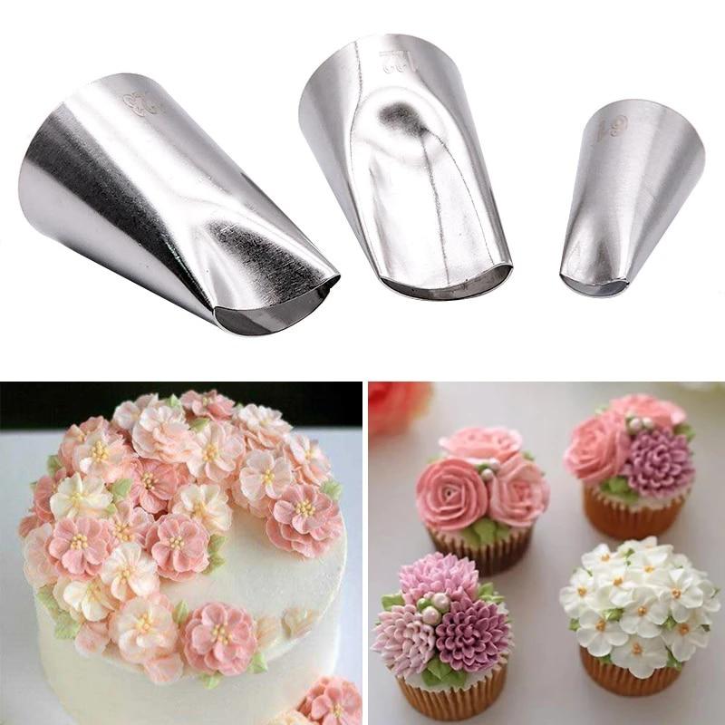 Cake Decoration Icing Piping Nozzles Baking Mold Rose Petal Nozzle Cream Tool