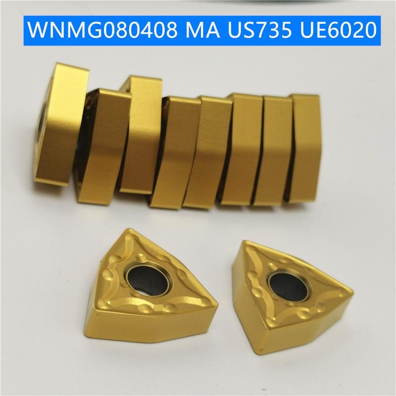 WNMG080404 WNMG080408 MA VP15TF UE6020 US735 External Turning Tools Carbide Insert Lathe Cutter Tool Wnmg 080404 Turning Insert