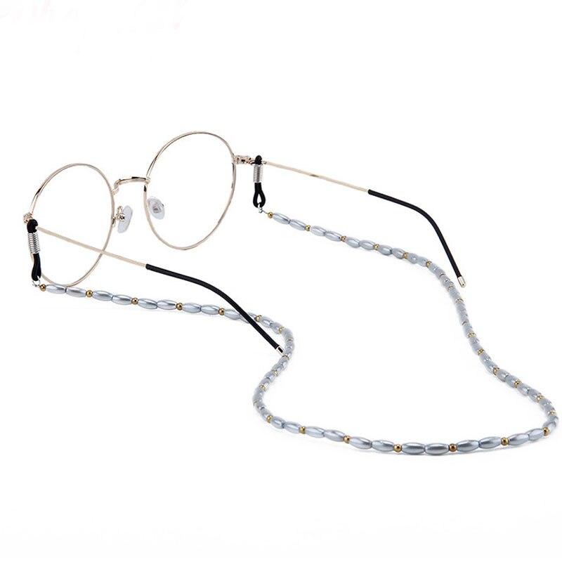 Cord-Strap Sunglasses Eyeglass-Chains Eyewear-Accessories Lanyards Beads Anti-Skid Pearl
