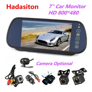 Reverse Parking system.7 inch TFT LCD Screen Car Monitor rearview mirror+ Night Vision Rearview camera optional(China)