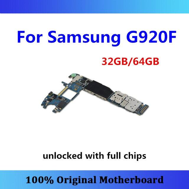 الأصلي لسامسونج غالاكسي S6 G920F اللوحة S6 المنطق مجلس G920F نظام أندرويد مع رقاقة اللوحة الرئيسية 32 جيجابايت/64 جيجابايت