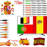 cccam Europa 7Lines HD 1 Year Cline Server for MT5370 USB Wifi Satellite Receiver Spain UK Germany Italy POLSAT MOVISTAR