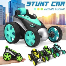 Wireless RC Car Tumbling Stunt Dump Truck Remote Control Toy