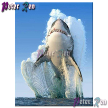 5d animal Diamond painting Diy full Square/round Rhinestones cross stitch embroidery picture home art Decorative ocean shark