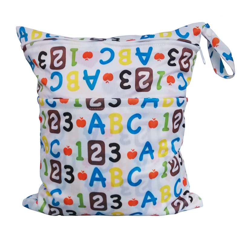 Paradise Genuine Product Double Zipper Printed Snap Closure-Diaper Bag Waterproof Bag-ABC