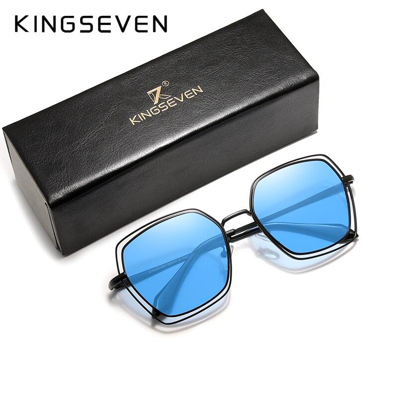KINGSEVEN 2020 Elegant Series Women Polarized Sunglasses Double Frame Fashion Design Women Glasses Female Eyewear Zonnebril Dame