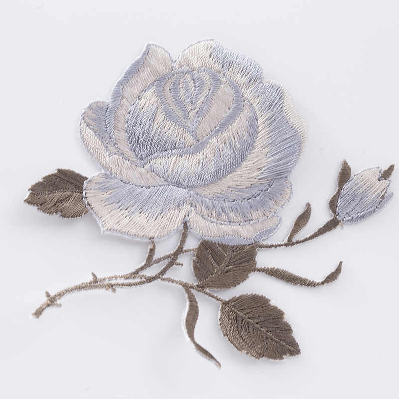 1Pc Rose Bloem Bloemen Patches Voor Kleding Ijzer Op Toepassing Kleding Geborduurde Patchwork Sticker Custom Naaien Accessoires