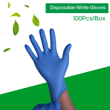 100Pcs Disposable Nitrile Gloves Non slip Oil Resistant Gloves Waterproof for Home Food Industry Cleaning Use Multiple Colour