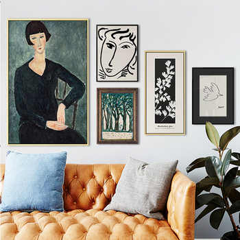Classic Picasso Amedeo Modigliani Artwork Collection Sketch Canvas Painting Wall Art Posters Aesthetic Canvas Art Quote image