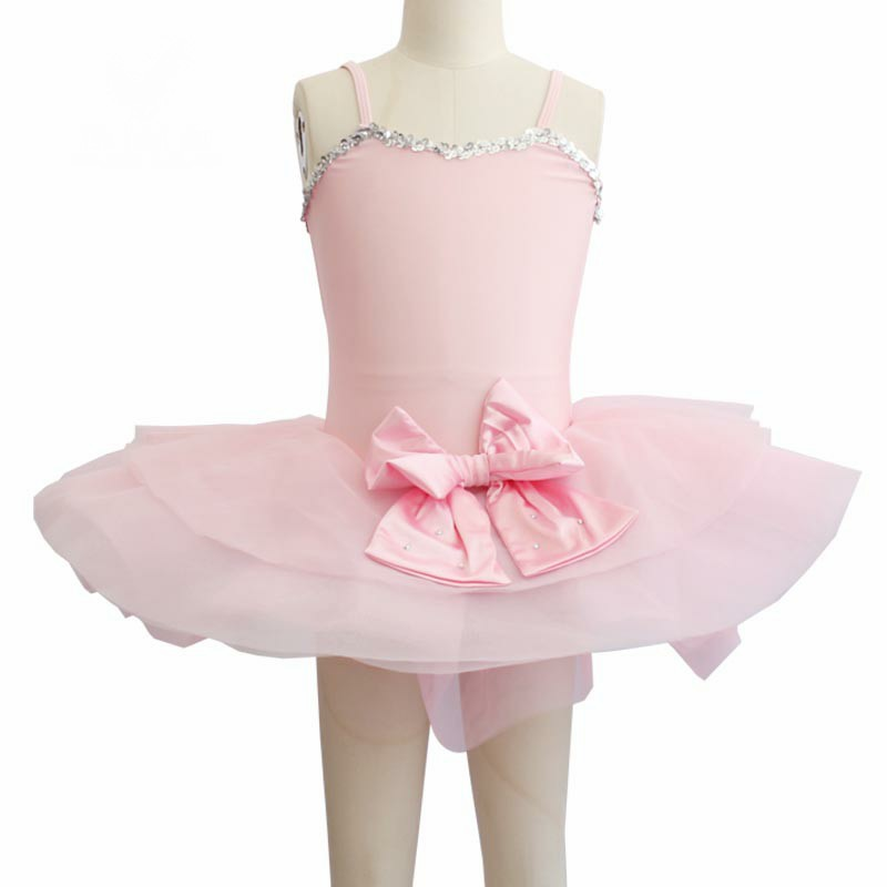 Enfants fille cygne lac Ballet Costumes enfants robe de Ballet rose romantique Ballet danse gymnastique justaucorps classique Ballet vêtements