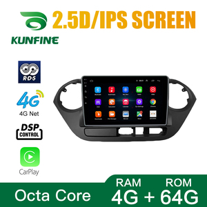 Octa Core Android 10.0 Car DVD GPS Navigation Player Deckless Car Stereo For HYUNDAI I10 2013-2017 RHD LHD Radio Dvice