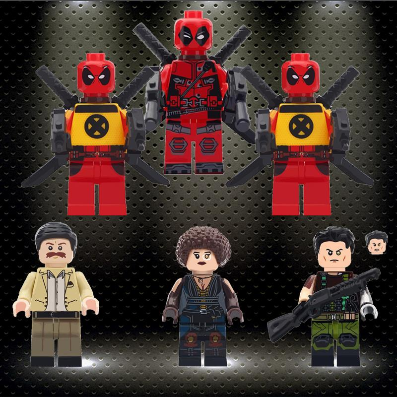 Legoed Super Heroes Building Blocks Peter Deadpool 2 Domino Cable Action Figures Minifigured Bricks Toys For Children WM6034