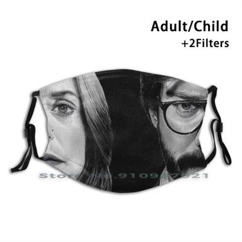 Erp 132 Serquel Reusable Mouth Face Mask Anti Haze Dustproof Mask With Filters For Child Adult Itziar Ituno Alvaro Morte image