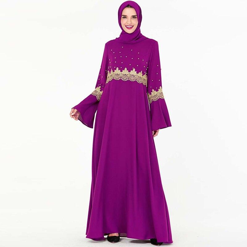 Abaya Dubai Turkish Hijab Muslim Dress Kaftan Islamic Clothing For Women Caftan Omani Islam Dress Abayas Beautiful Robe Kleding