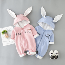 New Spring Autumn Baby Rompers Cute Cartoon Rabbit Infant Girls Boys Jumpsuit Kids Outfits Clothes