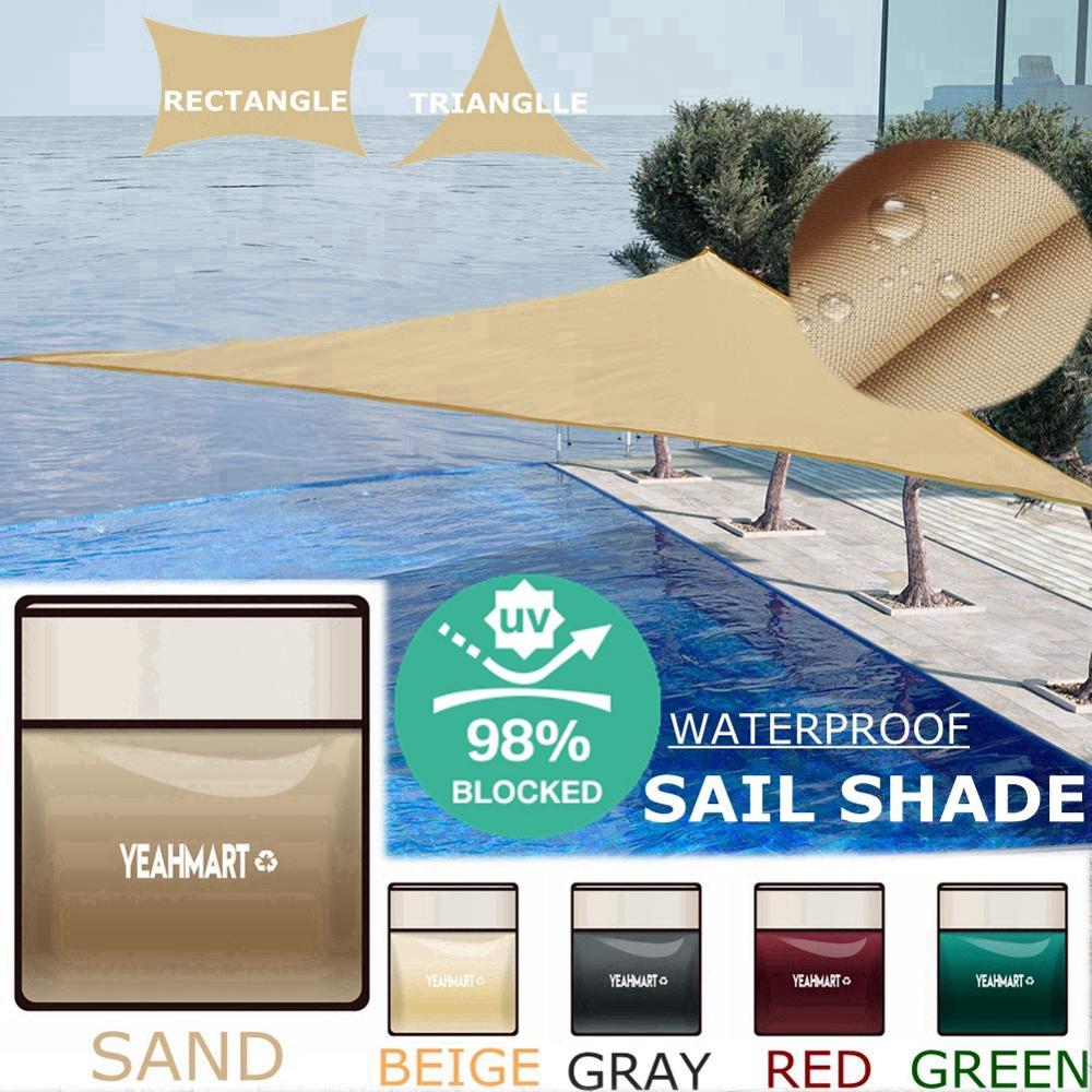 Anti-UV Waterproof Shade Sail Shelter Triangle Sunshade Protection 5x5x5M 98% UV Block Garden Terrace Canopy Pool Shade Cloth(China)