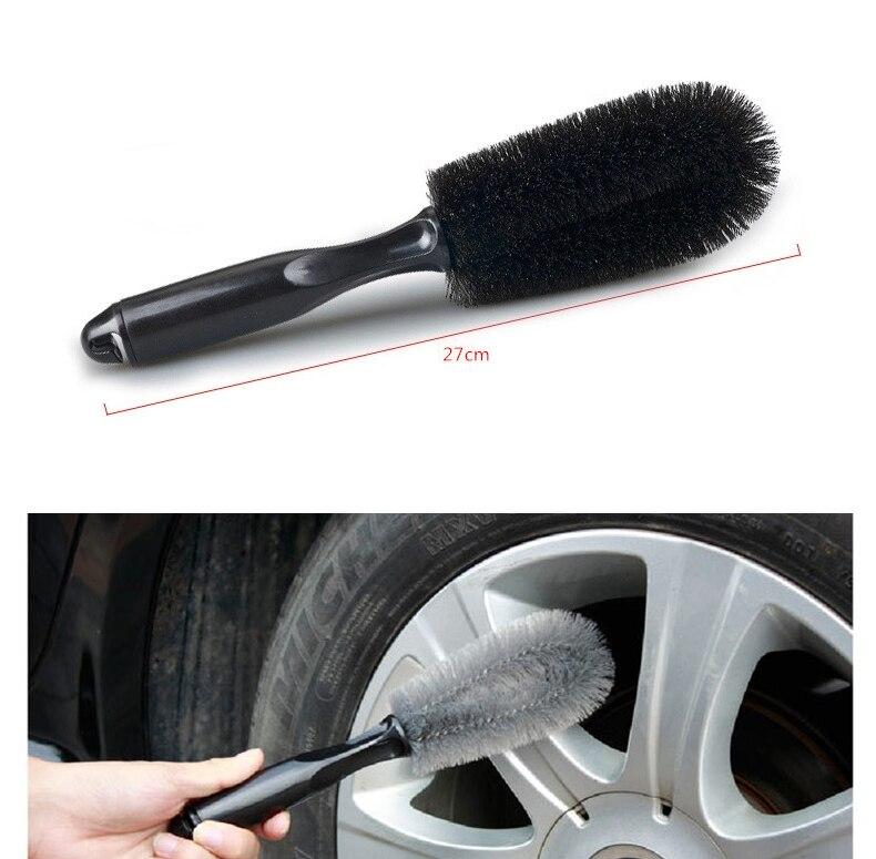 Car Truck Motorcycle Bike Wheel Tire Rim Scrub Brush Washing Tool Hot High Density Good Elasticity Black Brush