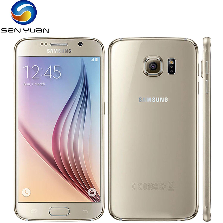Samsung Galaxy S6 G920F оригинальный мобильный телефон Octa Core, 3 Гб оперативной памяти, 32 Гб встроенной памяти, емкостный экран LTE 16MP Android 5,0 разблокирова...